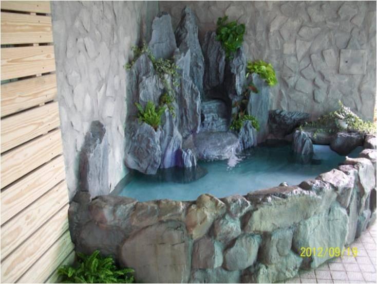 景观设计  室内造景frp假山水池鱼池
